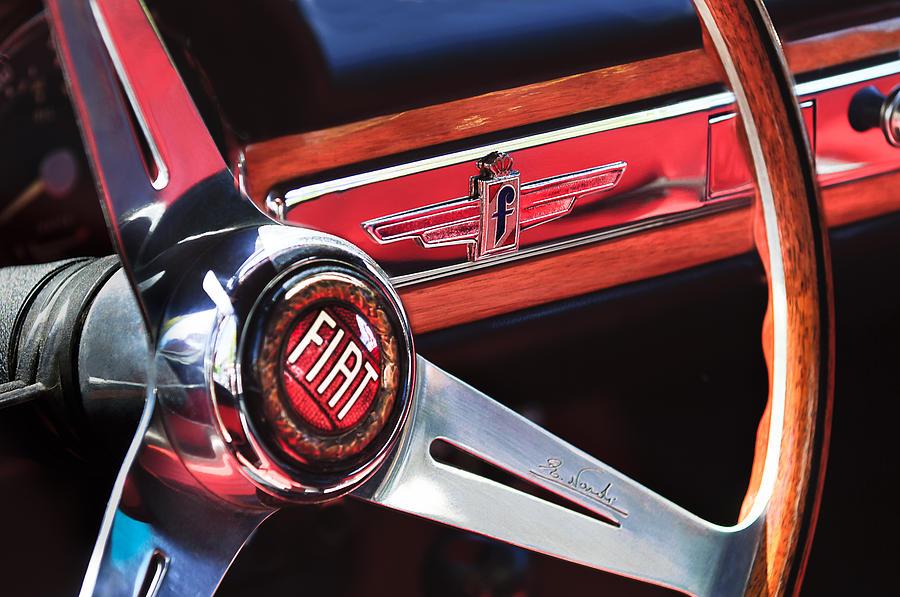 1961 Fiat 1500 S Osca Cabriolet Steering Wheel Photograph By Jill Reger