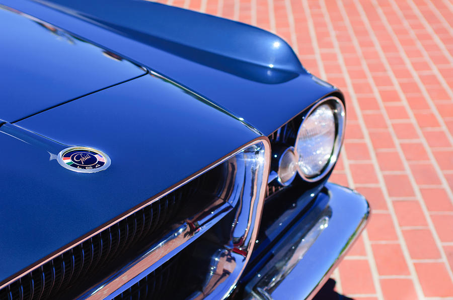 Classic Cars Photograph - 1962 Ghia L6.4 Coupe Grille Emblem by Jill Reger