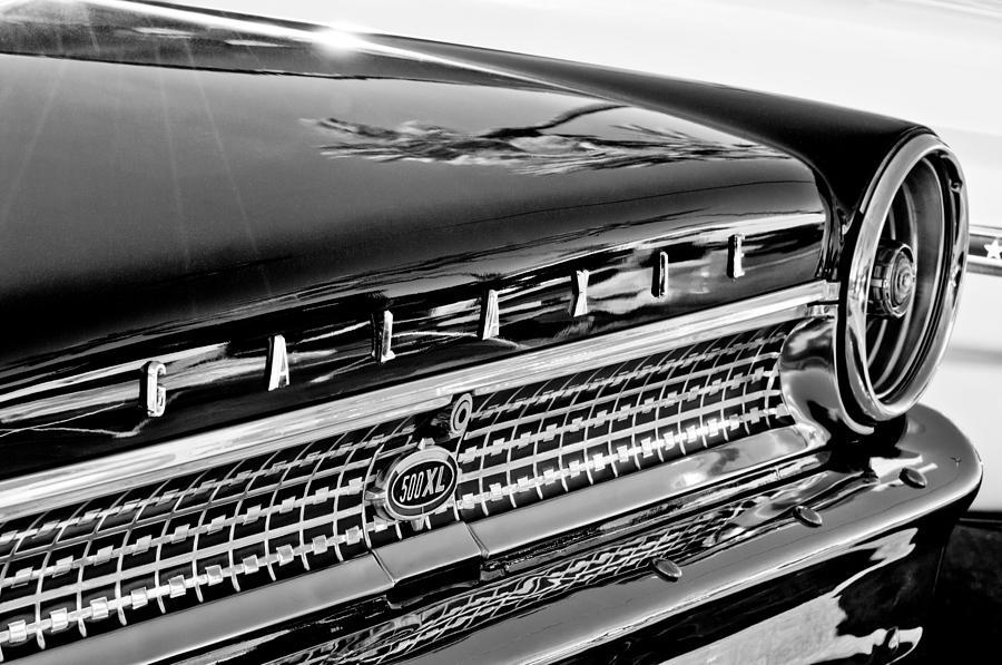 Emblem Photograph - 1963 Ford Galaxie 500xl Taillight Emblem by Jill Reger