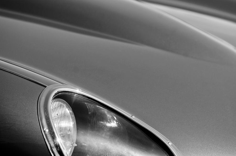 1963 Jaguar Xke Roadster Headlight Photograph - 1963 Jaguar Xke Roadster Headlight by Jill Reger