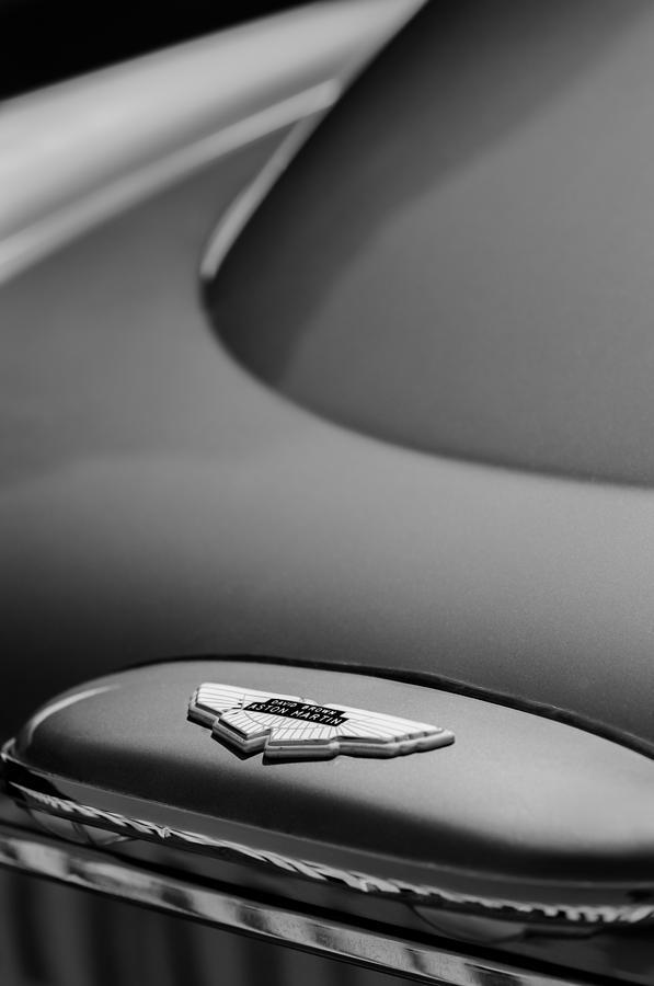 Aston Martin Photograph - 1965 Aston Martin Db5 Sports Saloon Emblem by Jill Reger
