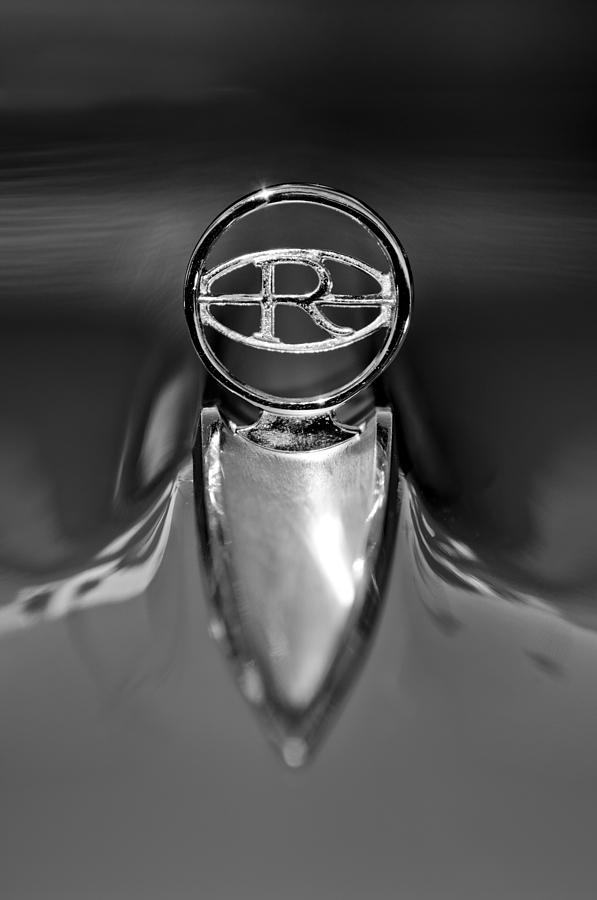 Black And White Photograph - 1965 Buick Riviera Hood Ornament by Jill Reger
