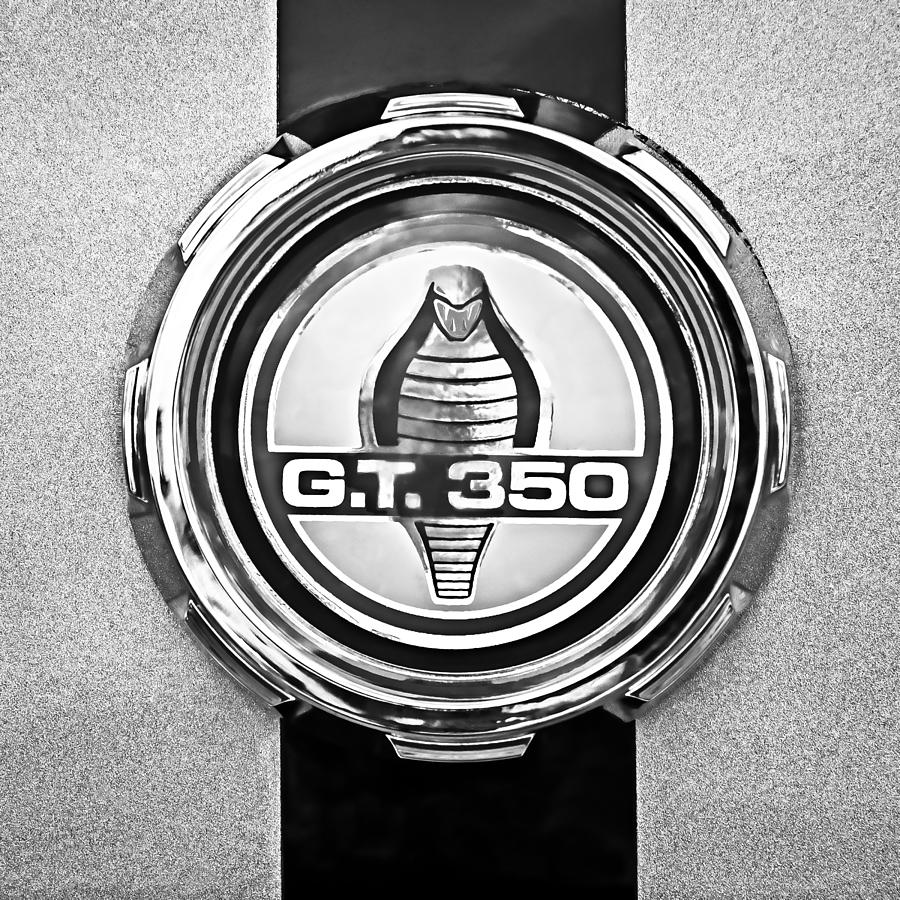 1966 Ford Mustang Convertible Gt 350 Cobra Emblem Photograph By