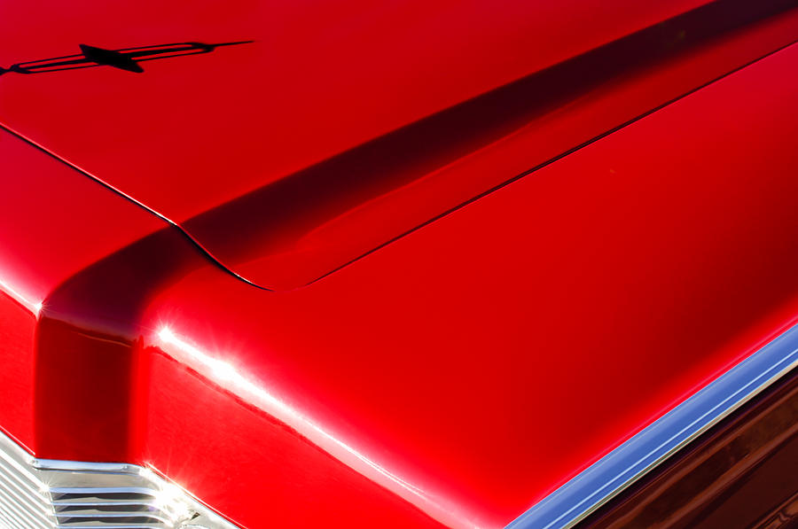 Lincoln Continental Photograph - 1967 Lincoln Continental Hood Ornament by Jill Reger