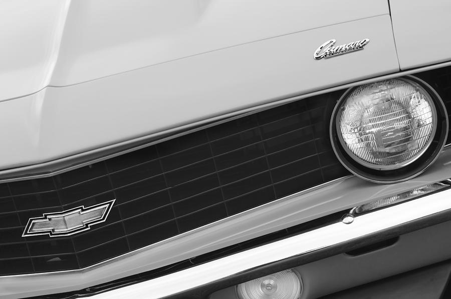 1969 Camaro Photograph - 1969 Chevrolet Camaro Copo Replica Grille Emblems by Jill Reger