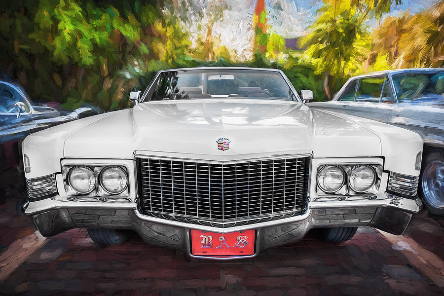1970 Cadillac Coupe Deville Convertible Painted Photograph By Rich