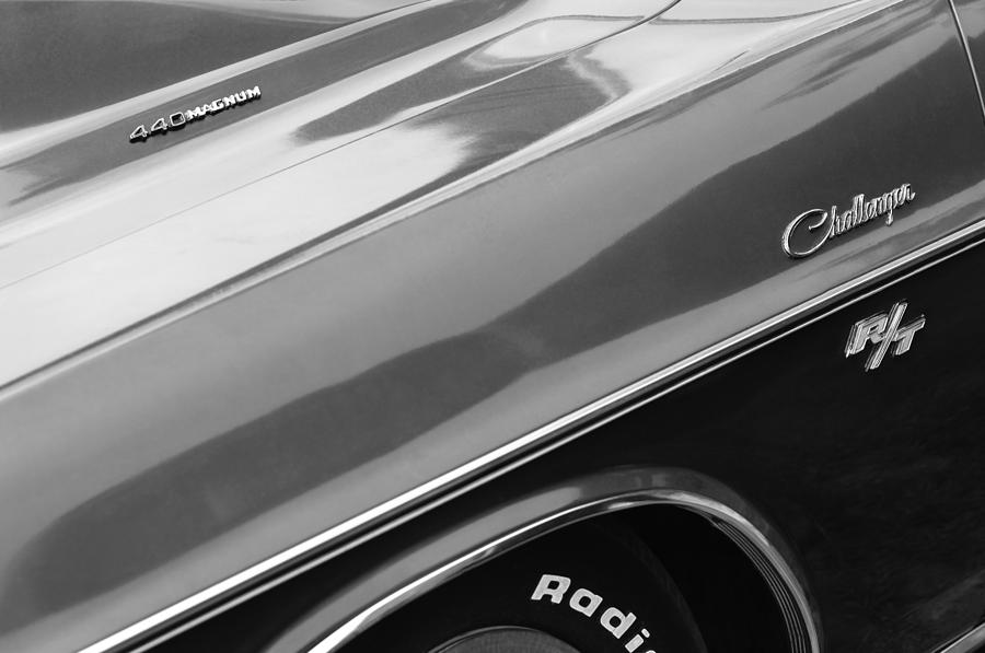 R T Photograph - 1970 Dodge Challenger Rt Convertible Emblems by Jill Reger