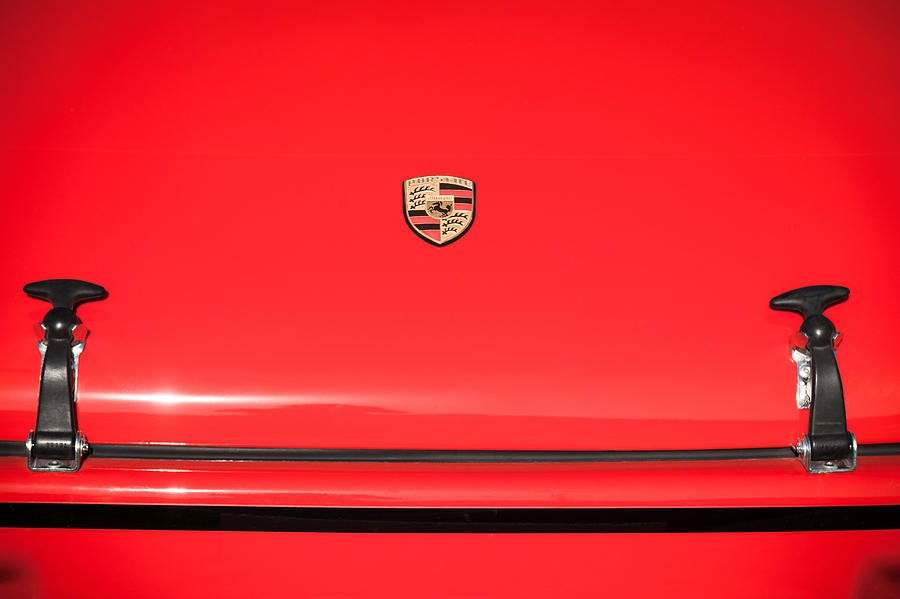 Sports Cars Photograph - 1971 Porsche 911 T Hood Emblem by Jill Reger