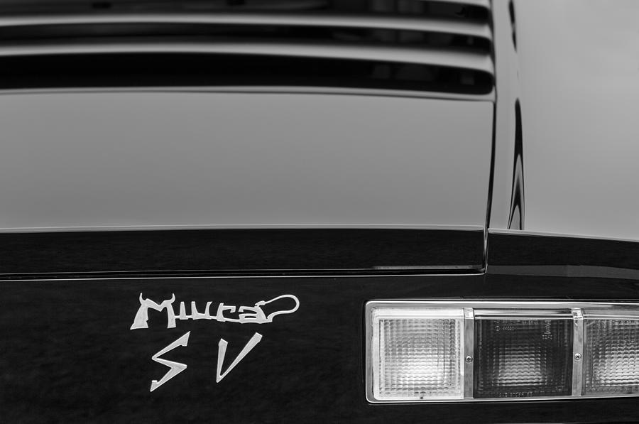 1973 Lamborghini Miura Sv Berlinetta Taillight Emblem Photograph