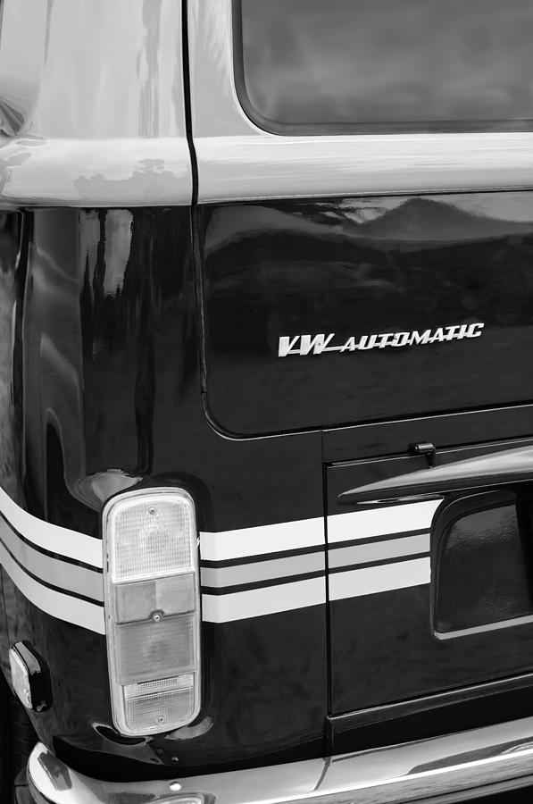 Vw Photograph - 1978 Volkswagen Vw Champagne Edition Bus Taillight Emblem by Jill Reger