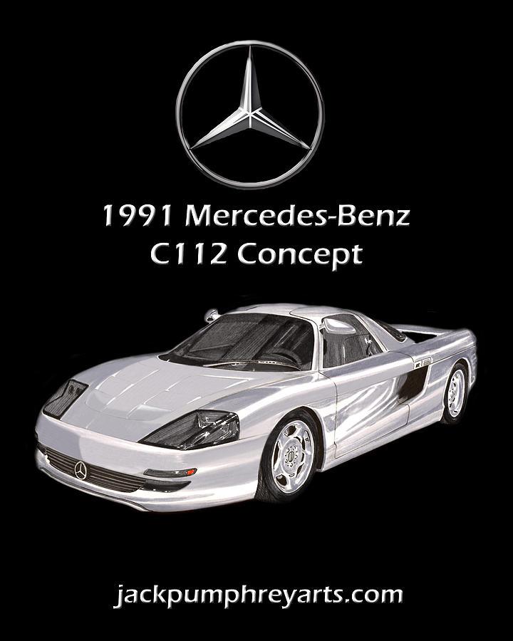 Sexy Painting - 1991 Mercedes Benz C 112 Concept by Jack Pumphrey