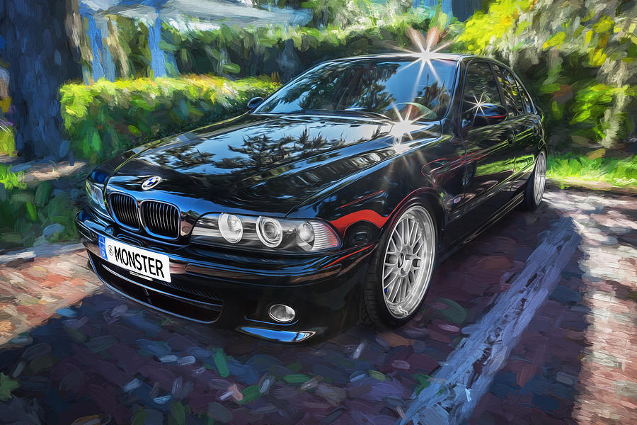 1999 Bmw 528i Sports Car Painted Photograph By Rich Franco