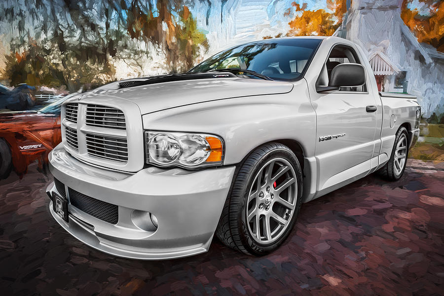 2004 Dodge Ram Srt 10 Viper Truck Painted Photograph By
