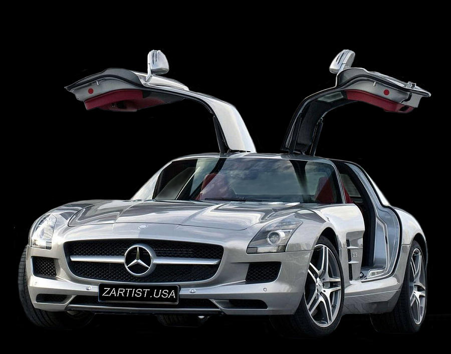 2010 mercedes benz sls gull wing photograph by jack pumphrey for Mercedes benz jack