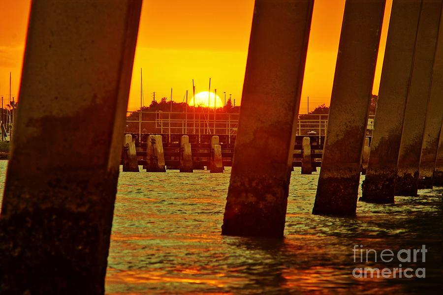 Sunset Photograph - 2013 First Sunset Under North Bridge 3 by Lynda Dawson-Youngclaus