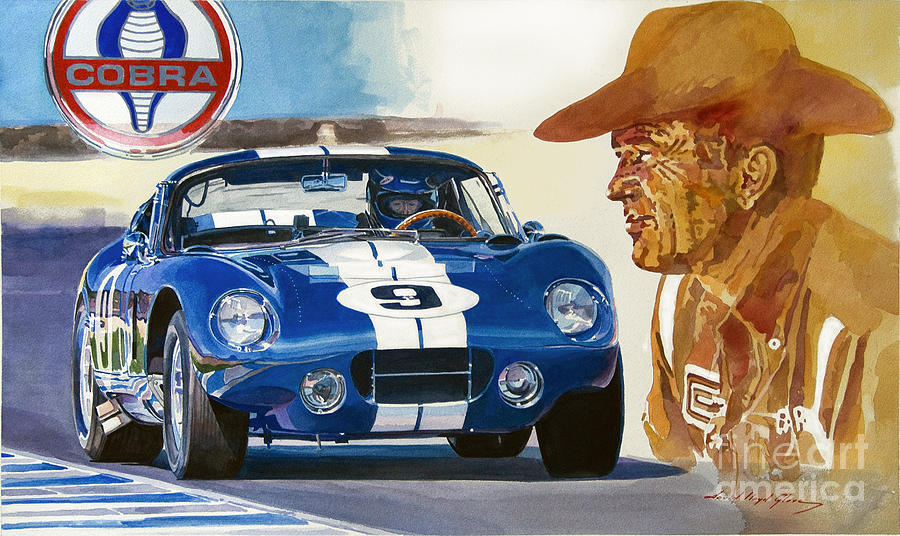 64 Cobra Daytona Coupe Painting
