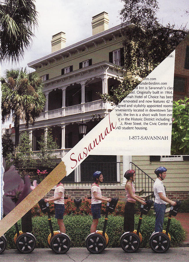 Collage Mixed Media - 1-877-Savannah by Matthew Hoffman