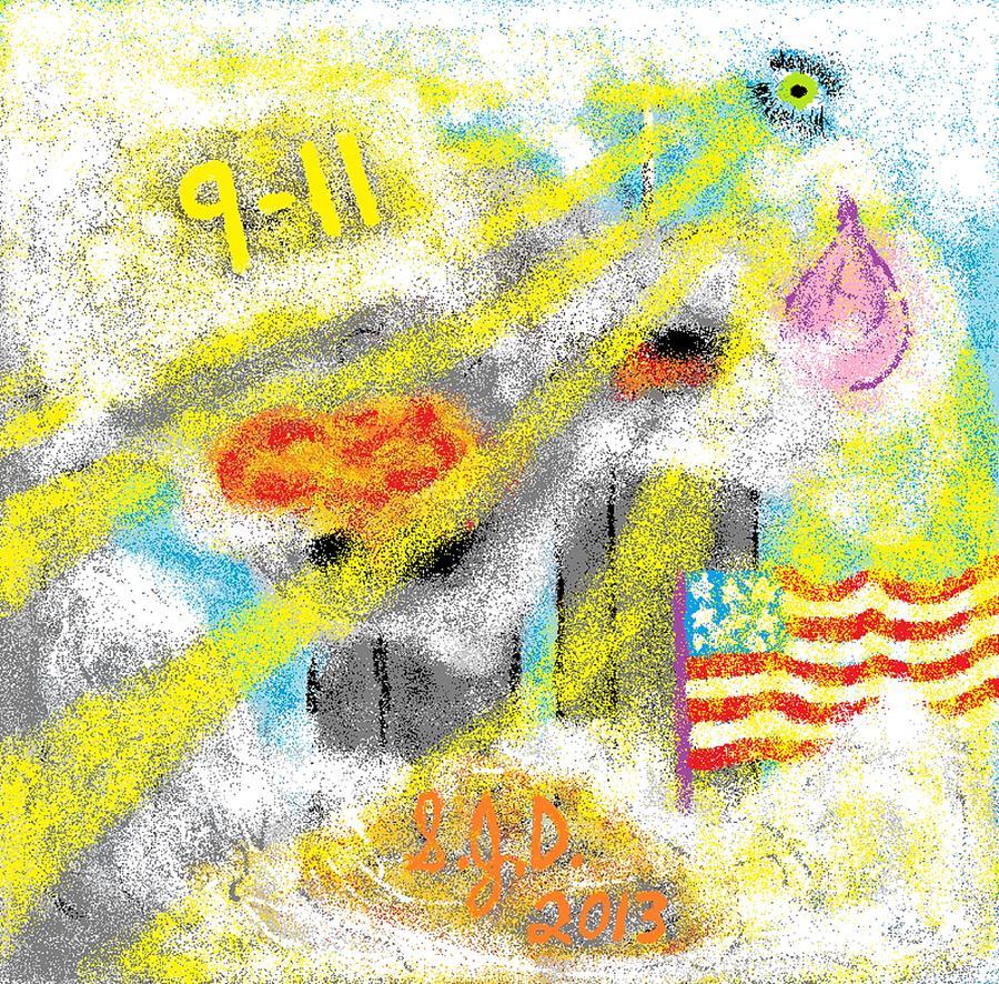 9-11 Digital Art by Joe Dillon