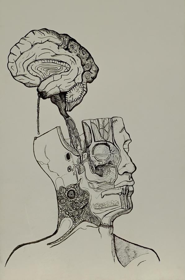 Anatomy Painting - A Bright Idea by Nickolas Kossup