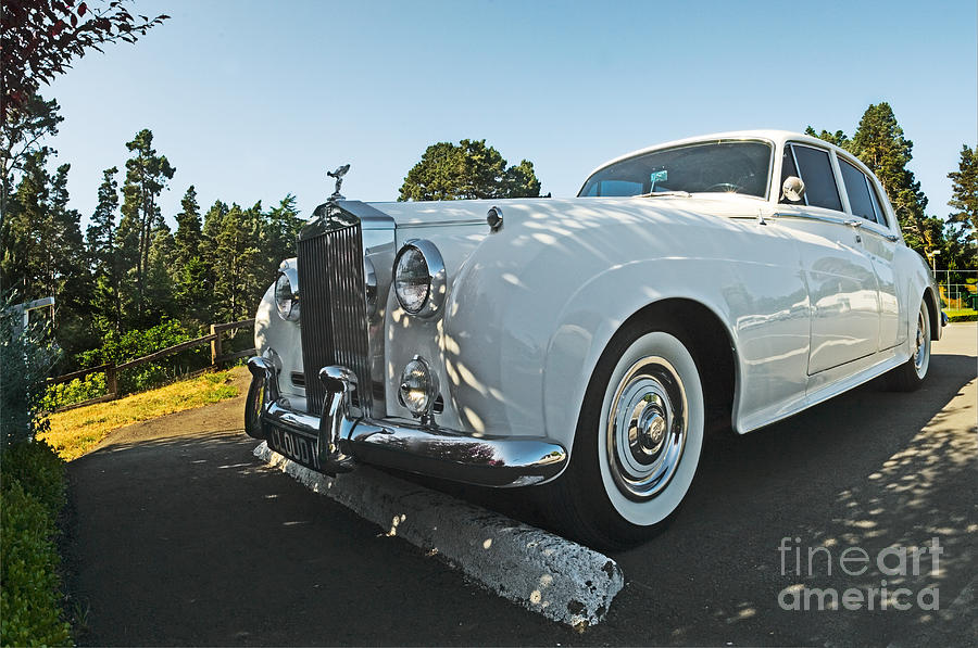 Automobile Photograph - A Classic Rolls Royce by Ron Sanford
