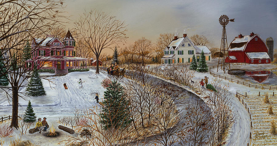 a country christmas painting by doug kreuger - Country Christmas