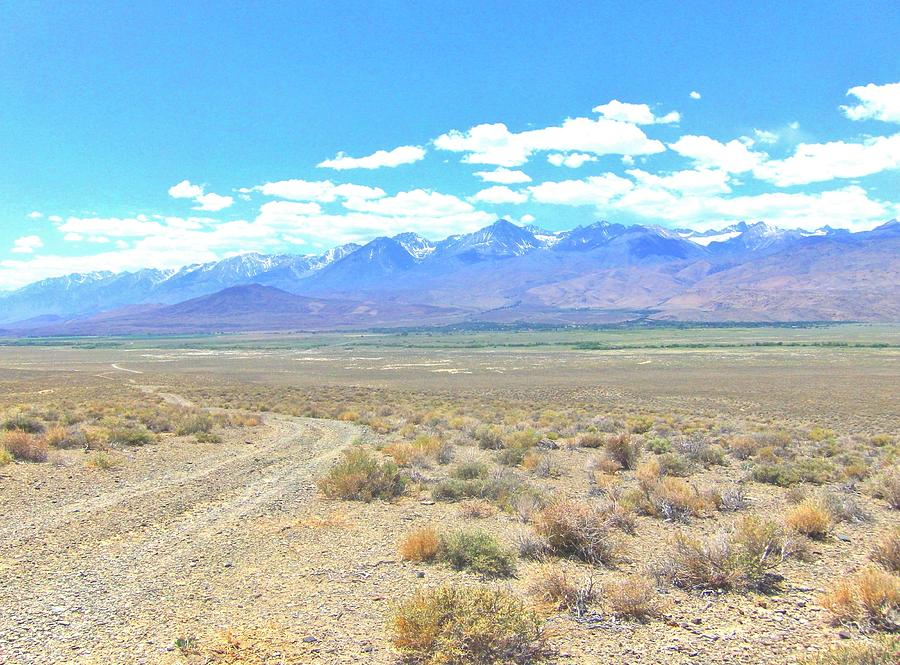Sky Photograph - A Desert Drive by Marilyn Diaz