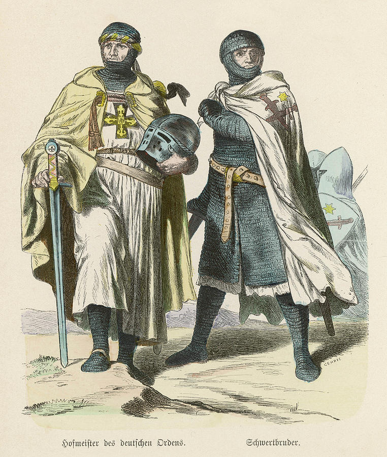 Teutonic Drawing - A Grand Master Of The Teutonic  Knights by Mary Evans Picture Library