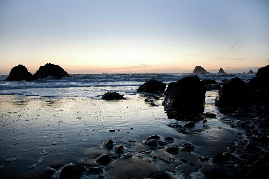 California Photograph - A Landscape Of Rocks On The Coast by Michael Hanson