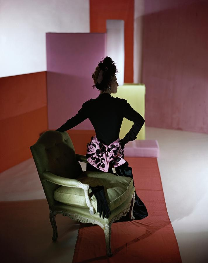 A Model Wearing A Schiaparelli Dress Photograph by Horst P. Horst
