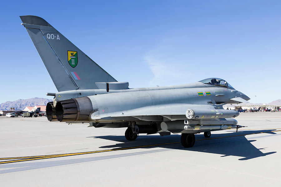A Royal Air Force Typhoon Fighter Photograph