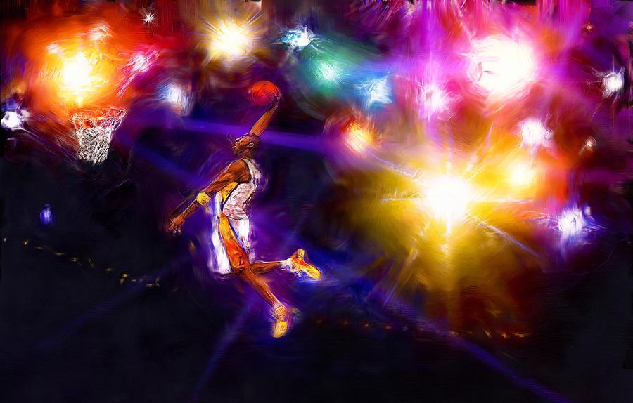Kobe Bryant Digital Art - A Star Is Born by Alan Greene