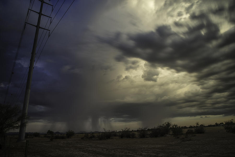 Landscape Photograph - A Stormy Sunset Over Phoenix Az.  by Israel Marino
