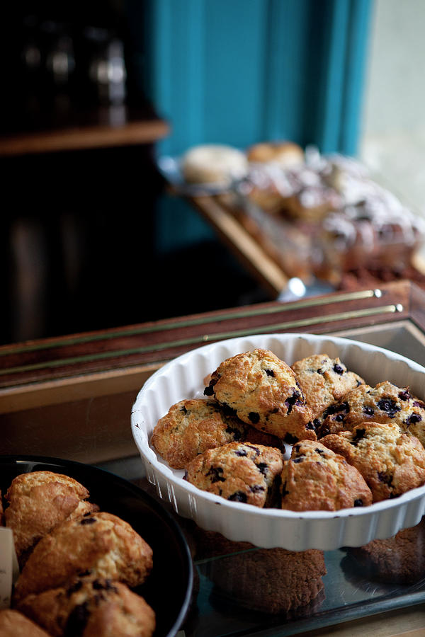 A Variety Of Scones For Sale On Display Photograph by Halfdark