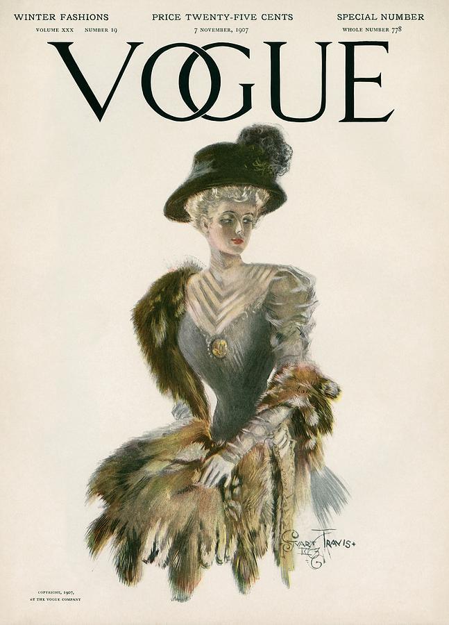 A Vintage Vogue Magazine Cover Of A Woman Photograph by Stuart Travis