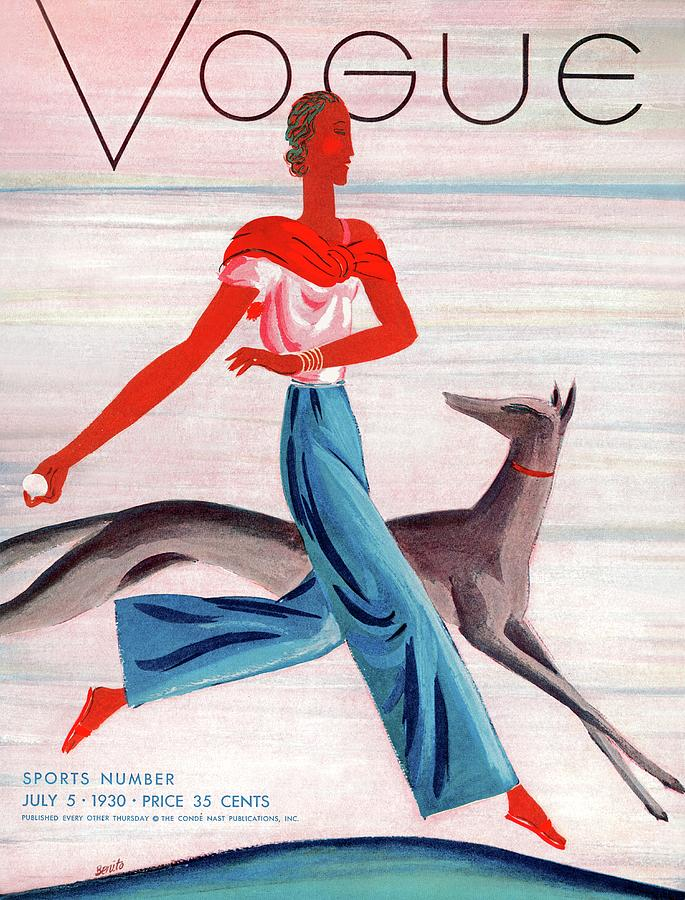 A Vintage Vogue Magazine Cover Of An African Photograph by Eduardo Garcia Benito