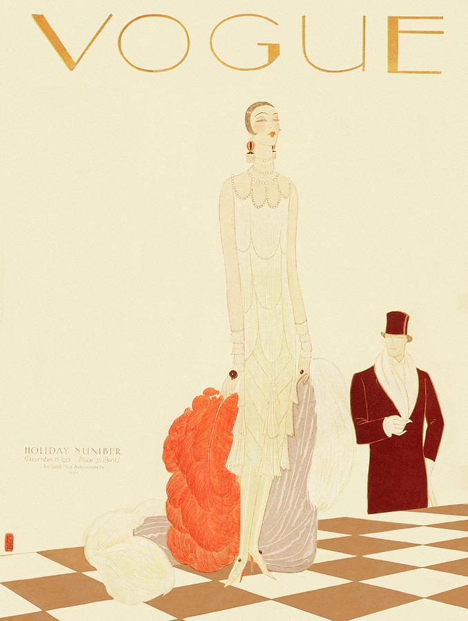 A Vogue Magazine Cover Of A Woman Photograph by Eduardo Garcia Benito