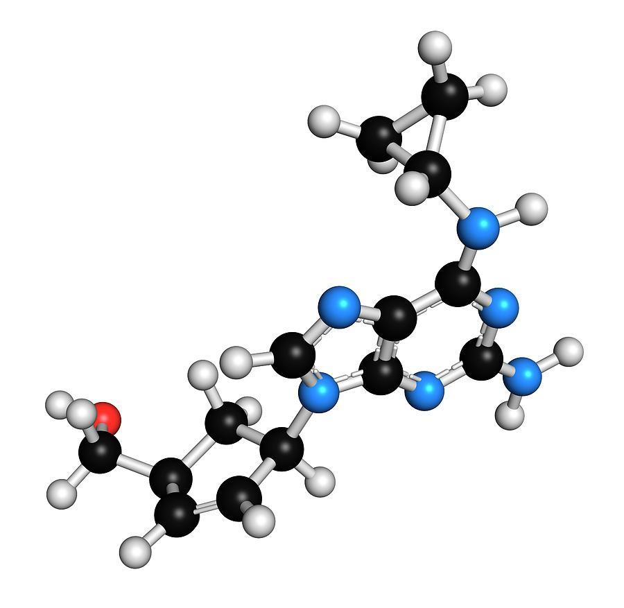 Abacavir Photograph - Abacavir Hiv Drug Molecule by Molekuul