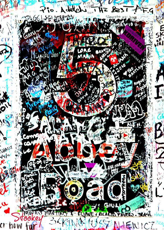 London Photograph - Abbey Road Graffiti by Stephen Stookey