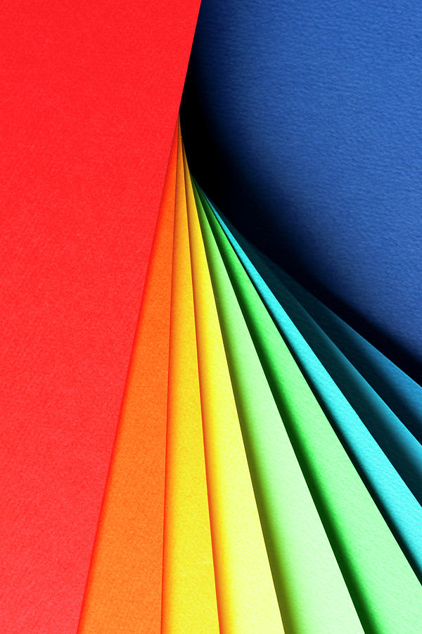 Abstract Background With Color Papers Photograph by Colormos