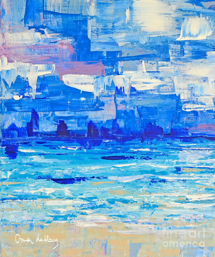 Abstract Painting - Abstract Beach by Paola Correa de Albury