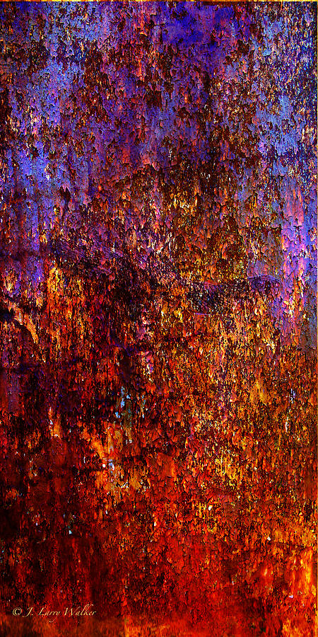 Walker Digital Art - Abstract by J Larry Walker