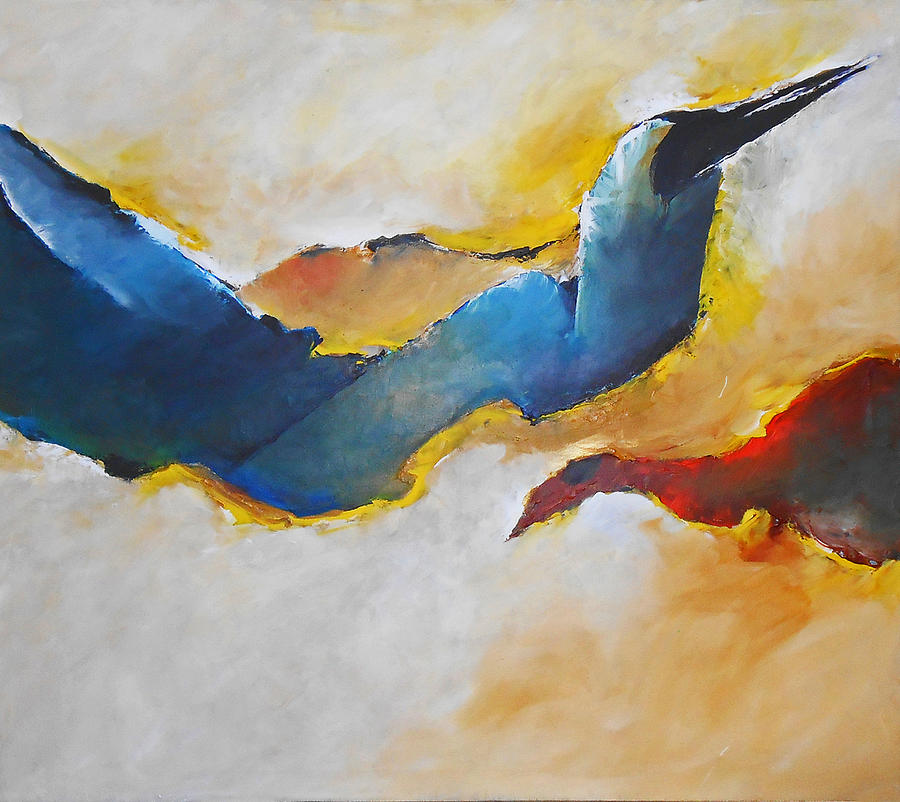 Abstract Painting - Abstract by Kurian Joshi