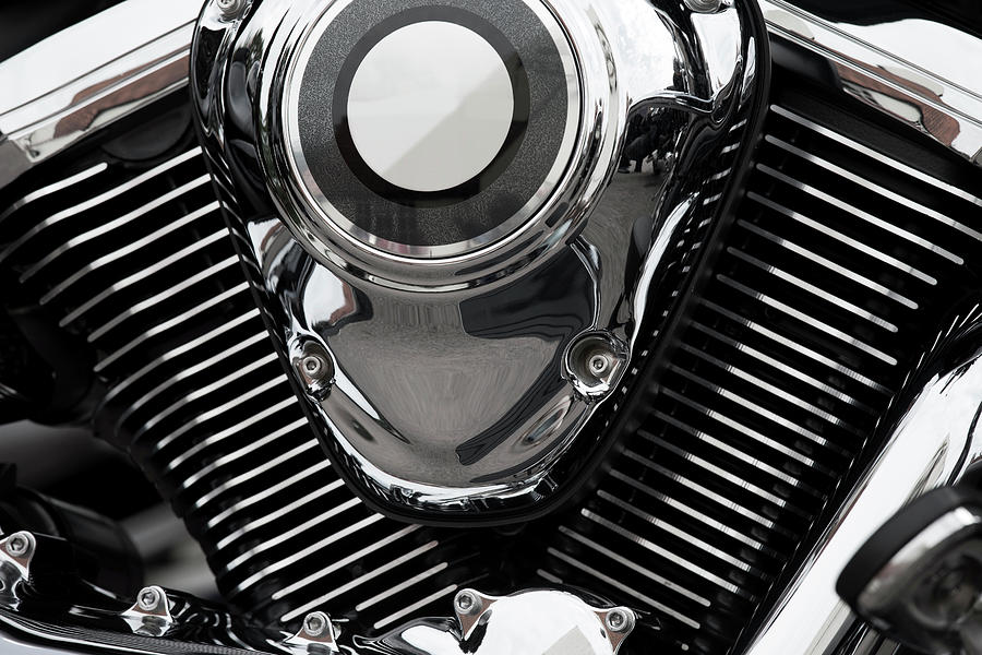 Abstract Motorcycle Engine Photograph by Andrew Dernie