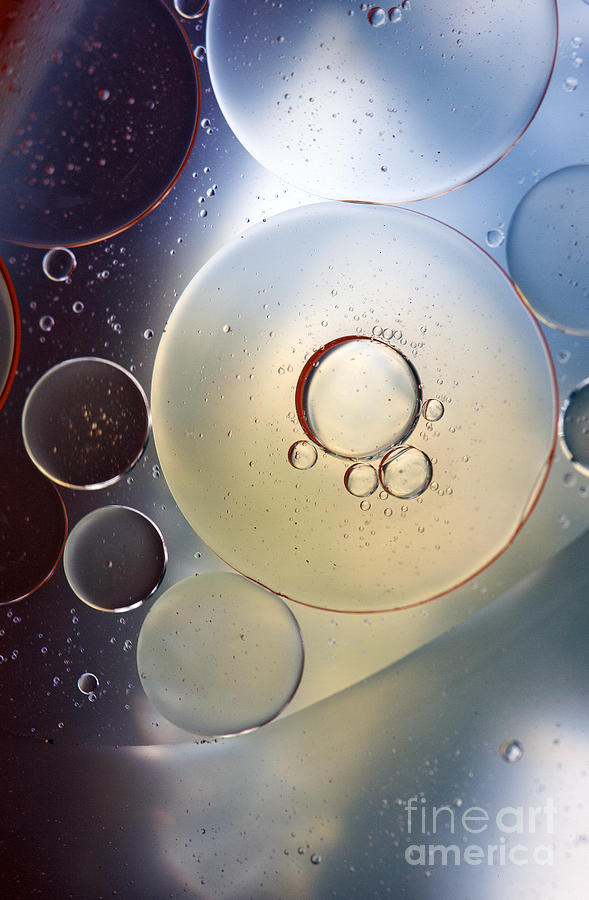 Oil Photograph - Abstraction Oil Bubbles In Water by Odon Czintos