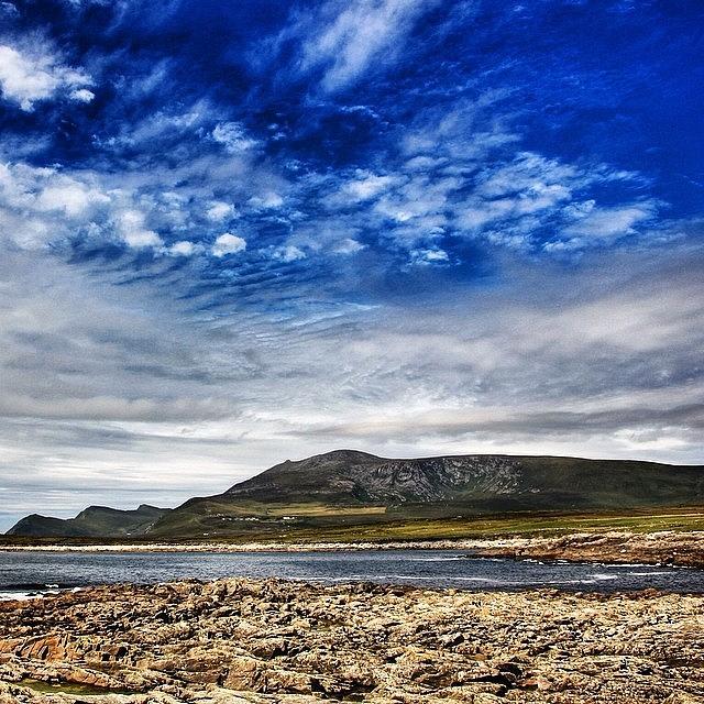 Nature Photograph - #achillisland #ireland #landscape by Luisa Azzolini