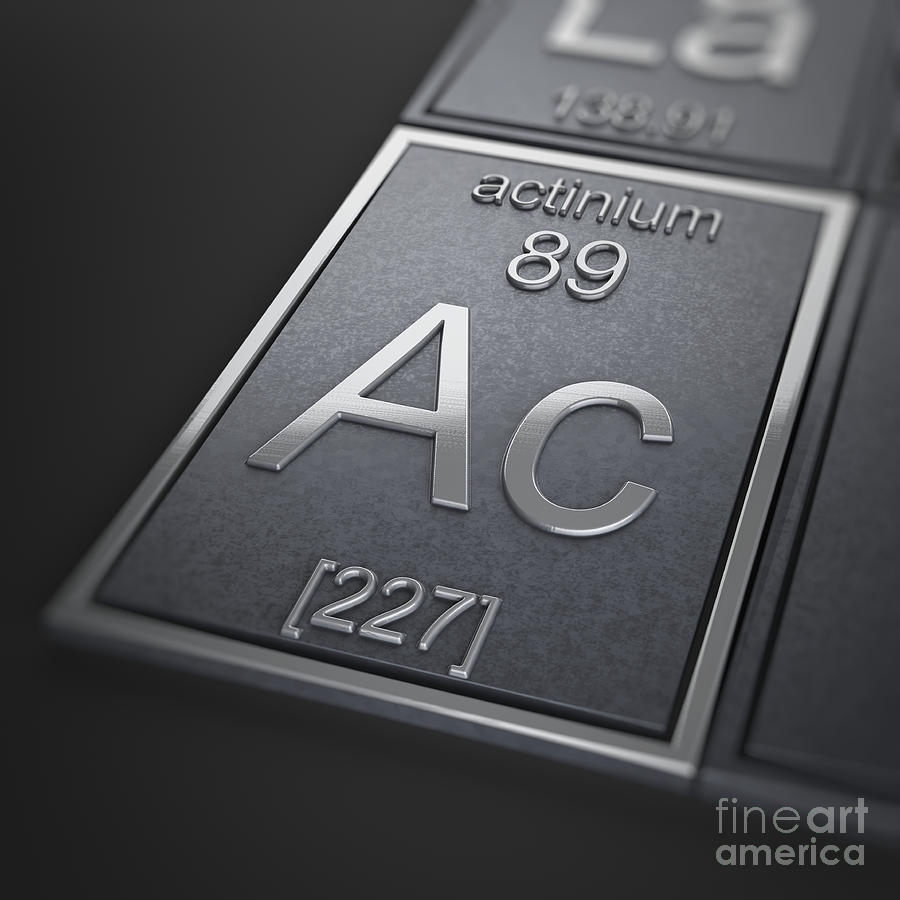 Actinium Chemical Element by Science Picture Co