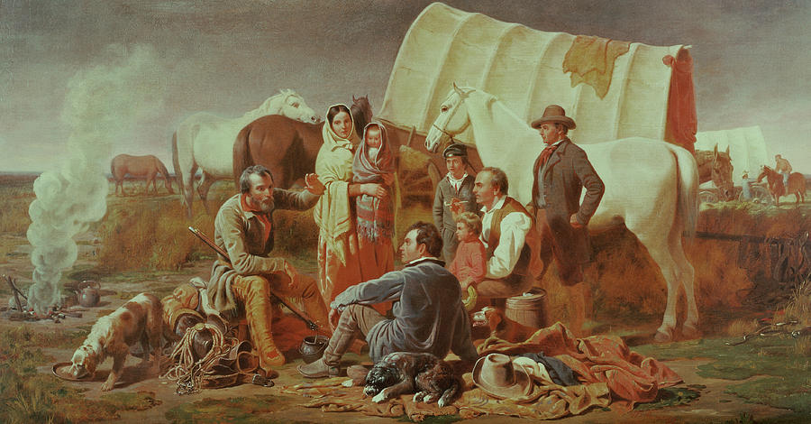Advice Painting - Advice On The Prairie  by William Tylee Ranney