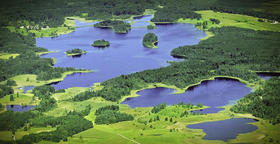 Aerial Photograph - Aerial Lakes by Bjoern Kindler