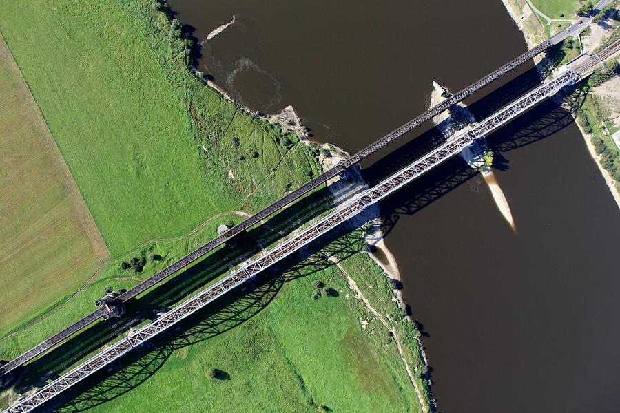 Aerial Photo Of The Railway Bridge Photograph by Dariuszpa