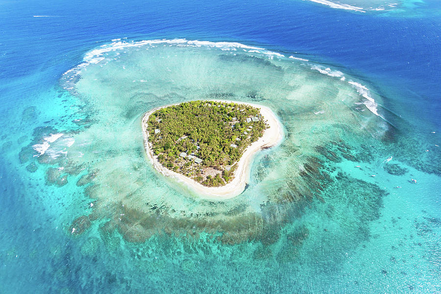 Aerial View Of Heart Shaped Island Photograph by Matteo Colombo